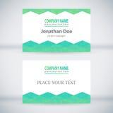 Modern Business-Card Set 02. Green Modern Business Card Set. Vector Design Royalty Free Stock Photos