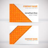 Modern Business-Card Set 06. Green Modern Business Card Set. Vector Design Stock Photo