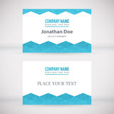 Modern Business-Card Set 06. Green Modern Business Card Set. Vector Design Stock Photography