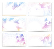 Modern Business Card Set. Pastel arrows.Eps10. Royalty Free Stock Images