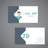 Modern business card with simplistic presentation Royalty Free Stock Photo