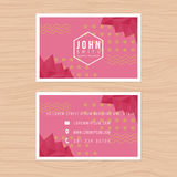 Modern business card template with abstract low polygon background. Printing design template. Modern business card template with abstract low polygon background Stock Images