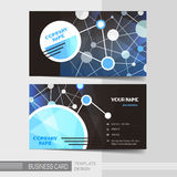 Modern business card template Stock Image