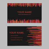 Modern business card template design set - vector name graphic with vertical stripes on black background. Modern business card template design set - vector name Stock Photos