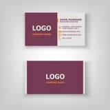 Modern business card template design. Stock vector Stock Photo
