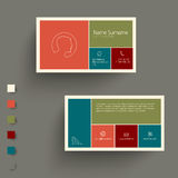 Modern  business card template with flat mobile user interface Royalty Free Stock Photo
