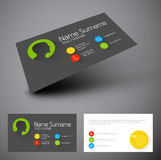 Modern business card template with flat user interface Royalty Free Stock Photos