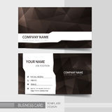 Modern business card template Stock Photography
