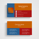 Modern business card template Stock Images