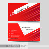 Modern business card template Royalty Free Stock Photography