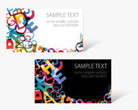 Modern business card templates Stock Photos