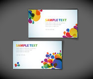 Modern business card templates royalty free illustration
