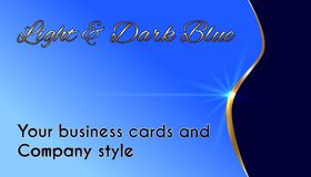 Business cards and company style Royalty Free Stock Photo