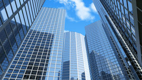 Modern Business Center. 3d Image Royalty Free Stock Photo
