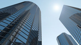 Modern Business Center. 3d Image Royalty Free Stock Photography