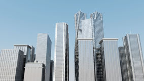 Modern Business Center. 3d Image Royalty Free Stock Images