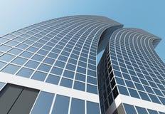 Modern Business Center. 3d Image Stock Photo