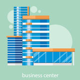Modern business center Stock Images