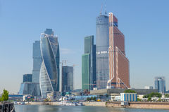 The modern business center Moscow City Royalty Free Stock Photos
