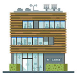 Modern business center. Shops and cafes. Set of elements for the construction of urban landscapes. Vector flat illustration Stock Image