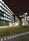 Modern business center in Warsaw at night Royalty Free Stock Photos