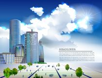 Modern business centre illustration Royalty Free Stock Photo