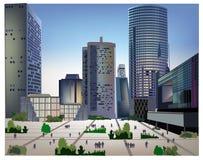 Modern business centre illustration Stock Image