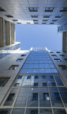 Modern business centre, view from below Royalty Free Stock Photos