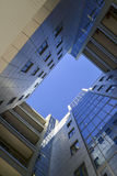 Modern business centre, view from below Stock Photos