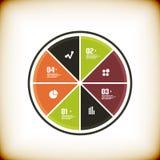 Modern business chart banner template Stock Photography