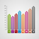 Modern business charts and graphs options banner for infographics or presentations. Vector illustration Royalty Free Stock Photos