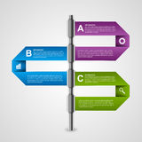Modern business charts and graphs options banner for infographics or presentations. Royalty Free Stock Photos