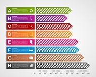 Modern business charts and graphs options banner for infographics or presentations. Stock Image