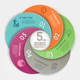 Modern business circle Infographics origami style. Royalty Free Stock Image