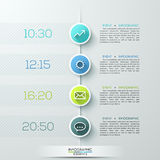Modern business circle infographics template. Vector illustration. can be used for workflow layout, diagram, number options, step up options, timeline, web Stock Illustration