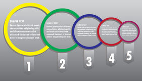 Modern business circle  options banner. Vector illustration Royalty Free Stock Image