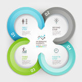 Modern business circle origami style banner. Royalty Free Stock Photography