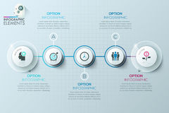 Modern business circle origami style options banner Royalty Free Stock Photos