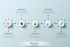 Modern business circle origami style options banner Stock Images