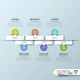 Modern business circle origami style options banner Stock Photography