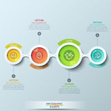 Modern business circle origami style options banner Royalty Free Stock Image