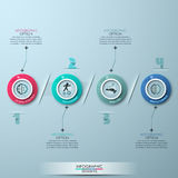 Modern business circle origami style options banner Royalty Free Stock Photo