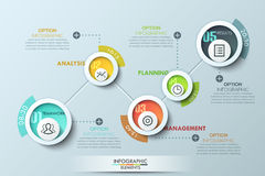Modern business circle origami style options banner Stock Photo