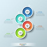 Modern business circle origami style options banner Royalty Free Stock Images