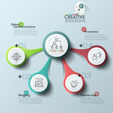 Modern business circle origami style options banner Stock Image