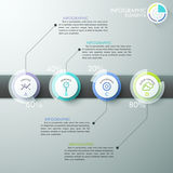 Modern business circle origami style options banner. Vector illustration. can be used for workflow layout, diagram, number options, step up options, web design Stock Illustration