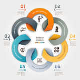 Modern business circle origami style. Modern business circle origami style options banner. Vector illustration. can be used for workflow layout, diagram, number Royalty Free Stock Image