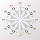 Modern business circle. Origami style. Vector illustration.  Stock Photos