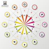 Modern business circle. Origami style. Vector illustration.  Stock Photography