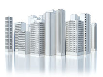Modern Business City  on white background. sketch Stock Images